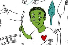 Graz Kulturjahr 2020: Friedenstische-zeichnen