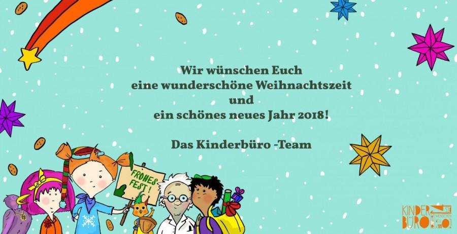 Fröhliche Weihnachten und ein gutes neues Jahr 2018!   Kinderbüro