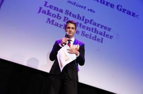 Der TrauDi! Förderpreis für die InitiatorInnen von Fridays For Future Graz, im Bild: Jakob Prettenthaler
