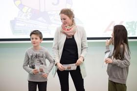 Kinderbürgermeister Valentin, Kinderbüro-Projektleiterin Kristina Gril und Vizebürgermeisterin Lucia© AK/Graf-Putz